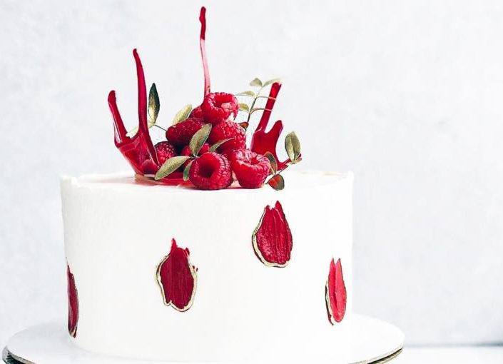 торт малина шампан 710ф