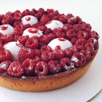 пирог с малиной 700